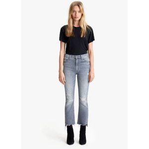 NWT MOTHER The Insider Crop Step Fray Jeans 25 Ace